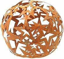 Sternen Kugel Metall Rost Gartendeko 40cm Edelros