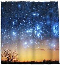 Sternenhimmel Nachthimmel Sterne Duschvorhang mit