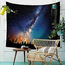 Sternenhimmel Nachthimmel Wandteppich Natur