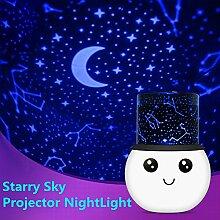 Sternenhimmel Projektor Nachtlicht, Florally 2 Modus Projektor Licht, Romantische Kosmos Stern Himmel Mond Projektionslampe, Schlafzimmer Nachtlicht, Kinder LED Nachtlicht mit eingebaute Akku für Kinder, Baby, Weihnachtsgeschenke
