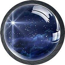 Sternenklare Nacht, 4Pack ABS Kommode Knöpfe