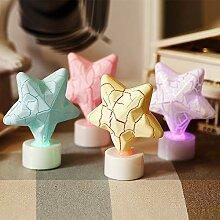 Sternglühen Kerzenlicht Nachtlicht, Stern LED
