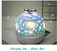 Sternprojektor-Nachtlicht 360 drehende romantische