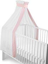 Sterntaler Betthimmel weiß-rosa, für Kinderbett