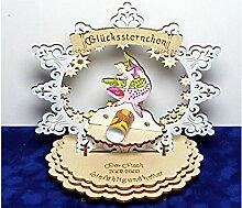 Sternzeichen Fisch - Geldgeschenk aus Holz - Geschenkidee zum Geburtstag