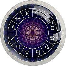 Sternzeichen Horoskop Psychedelisch Küchenknopf
