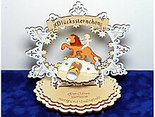 Sternzeichen Löwe - Geldgeschenk aus Holz - Geschenkidee zum Geburtstag