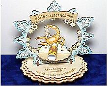 Sternzeichen Skorpion - Geldgeschenk aus Holz - Geschenkidee zum Geburtstag