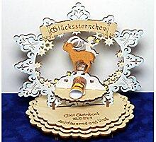 Sternzeichen Steinbock - Geldgeschenk aus Holz - Geschenkidee zum Geburtstag