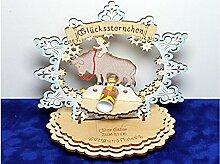 Sternzeichen Stier - Geldgeschenk aus Holz - Geschenkidee zum Geburtstag