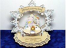 Sternzeichen Wassermann - Geldgeschenk aus Holz - Geschenkidee zum Geburtstag