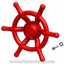 Steuerrad rot für Spielturm, Durchmesser 35cm - Kinderspielgeräte für Garten, Spielgeräte für Kinder, Spielturm, Spieltürme