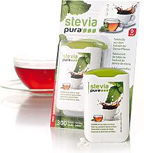 STEVIA PURA Süssstoff Tabs Spender, 300 Portionen