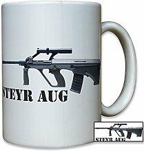 Steyr AUG Österreich österreichisches Sturmgewehr Gewehr Bundesheer Wappen Abzeichen - Tasse Kaffee Becher #12913