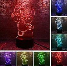 Stich 3D LED Nachtlicht Energiesparendes Licht