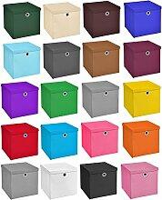 StickandShine 6er Set Schwarz Faltbox 32 x 32 x 32