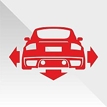 Sticker Audi TT Rosso Red Rouge Rojo Rot Down and Out DUB - Decal Cars Motorcycles Helmet Wall Camper Bike Adesivo Adhesive Autocollant Pegatina Aufkleber - cm 31
