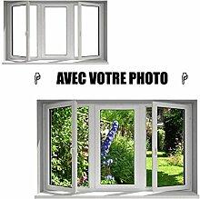 Sticker Fenster mit Ihrem Foto L 70cm x h 42cm