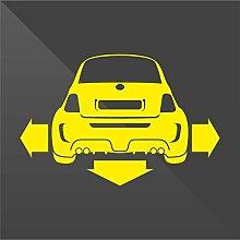 Sticker Fiat 500 Giallo Yellow Jaune Amarillo Gelb