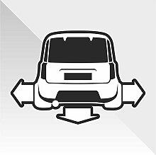 Sticker Fiat Panda - Decal Cars Motorcycles Helmet