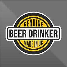 Sticker Genuine Beer Drinker Funny Divertente