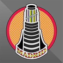Sticker Madrid - Decal Cars Motorcycles Helmet
