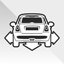 Sticker Mini Cooper Down and Out DUB - Decal Cars Motorcycles Helmet Wall Camper Bike Adesivo Adhesive Autocollant Pegatina Aufkleber- cm 30