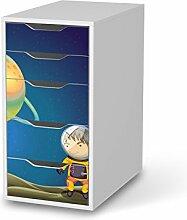 Sticker Möbel für IKEA Alex Schreibtisch-5 Schubladen | Möbelfolie Klebetapete Folie Aufkleber Möbel folieren | kreativ einrichten Wohnzimmer-Möbel Deko Artikel | Design Motiv Young Explorer
