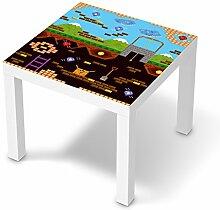 Sticker Möbel für IKEA Lack Tisch 55x55 cm | Möbelfolie Klebetapete Folie Aufkleber Möbel folieren | kreativ einrichten Wohnzimmer-Möbel Deko Artikel | Design Motiv Pixelmania