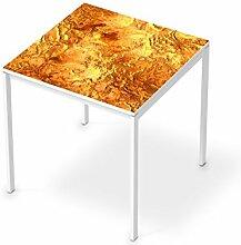 Sticker Möbel für IKEA Melltorp Tisch 75x75 cm | Möbelfolie Klebetapete Folie Aufkleber Möbel folieren | kreativ einrichten Wohnzimmer-Möbel Deko Artikel | Design Motiv Kupferglanz