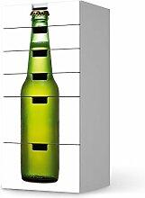 Sticker Möbel für IKEA Stuva Kommode - 6 Schubladen | Möbelfolie Klebetapete Folie Aufkleber Möbel folieren | kreativ einrichten Wohnzimmer-Möbel Deko Artikel | Design Motiv Cold Bottle