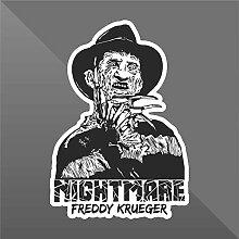 Sticker Nightmare Freddy Krueger Horror - Decal