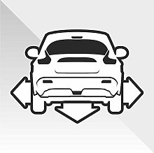 Sticker Nissan Juke Down and Out DUB - Decal Cars Motorcycles Helmet Wall Camper Bike Adesivo Adhesive Autocollant Pegatina Aufkleber- cm 28