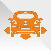 Sticker Opel Vauxhall Corsa Arancione Orange