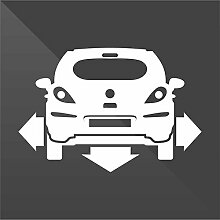 Sticker Opel Vauxhall Corsa Bianco White Blanc