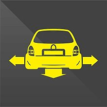 Sticker Opel Vauxhall Corsa Giallo Yellow Jaune