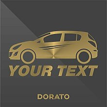 Sticker Opel Vauxhall Corsa Oro Gold Or Down and