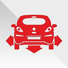 Sticker Opel Vauxhall Corsa Rosso Red Rouge Rojo