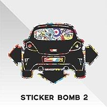Sticker Opel Vauxhall Corsa Sticker Bomb Down and