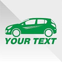 Sticker Opel Vauxhall Corsa Verde Green Vert Grün