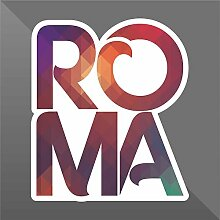 Sticker Roma Rome Rom - Decal Cars Motorcycles