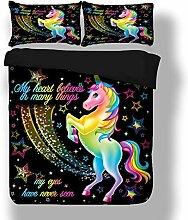 Sticker superb Elegant Bunt Einhorn Bettwäsche