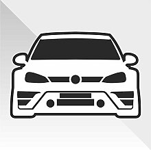 Sticker Volkswagen Golf Down and Out DUB - Decal Cars Motorcycles Helmet Wall Camper Bike Adesivo Adhesive Autocollant Pegatina Aufkleber- cm 25