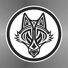 Sticker Volpe Fox Renard Zorro Fuchs - Decal Cars Motorcycles Helmet Wall Camper Bike Adesivo Adhesive Autocollant Pegatina Aufkleber - cm 22