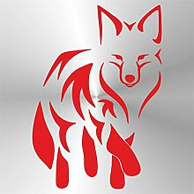 Sticker Volpe Fox Renard Zorro Fuchs Rosso Red Rouge Rojo Rot - Decal Cars Motorcycles Helmet Wall Camper Bike Adesivo Adhesive Autocollant Pegatina Aufkleber - cm 29