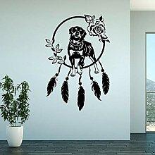 Sticker Wand50,1 Cm * 75 Cm Schöne Rottweiler