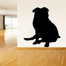 Sticker Wand 55,8 Cm * 60 Cm Cartoon Mops Hund