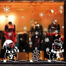 Sticker WandAufkleber Weihnachten Schneemann