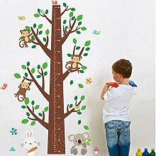 Sticker Wand Cartoon Affe Großen Baum Höhe