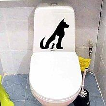 Sticker Wand23,3X24,3 Cm Haustiere Hund Katze Maus